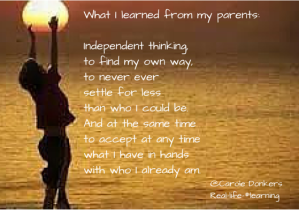 What I learned from my parents